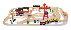 Toy Melissa & Doug Wooden Railway Set