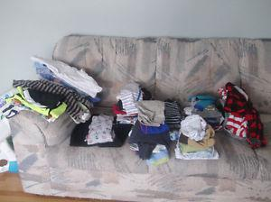Variety of baby clothes sizes.