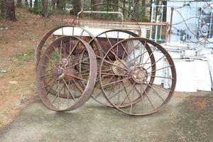 Vintage Irom Farm Implement Wheel,