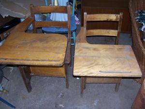Vintage Primary and Elementary School Desks $25 EACH