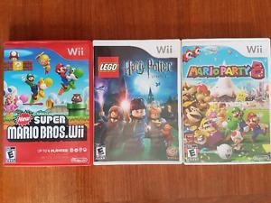 Wii games. Harry Potter, Mario Party 8, New Super Mario Bros
