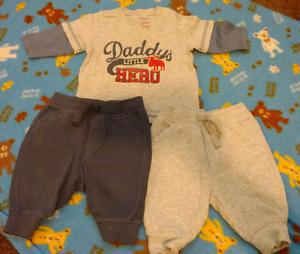 0-3 m baby boy outfit