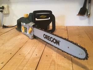 14 inch 12 amp yard works electric chainsaw - like new