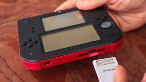 2DS SYSTEM RED WITH 3 GAMES 3DS
