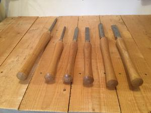 6 piece wood turning chisel set. Like new