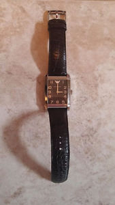 Armani Leather Strap Watch