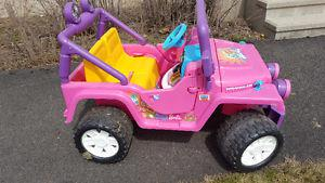 Battery Powered Electric Barbie jeep