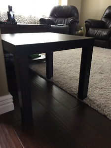 Black accent end table