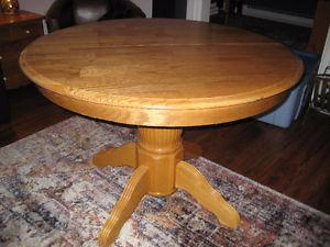 Dining table solid oak