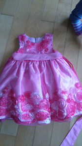 Fancy pink dress. Size 24m $5