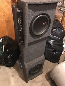 Focal subs with amp and box and tweeters