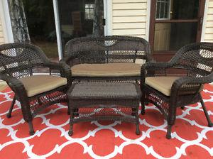 For Sale: 4 pc patio set with cushions