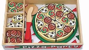 Melissa and Doug - Wooden Pizza set and Wooden Birthday Cake