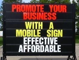 Mobile sign rentals