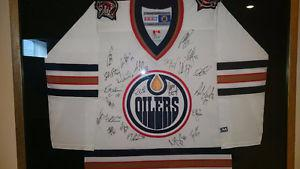 Oilers Team Autographed Jersey