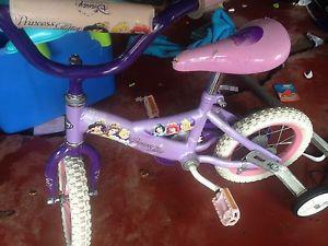 Princess bike with training wheels