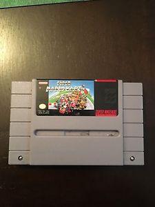 Super Mario kart for Super Nintendo. Snes