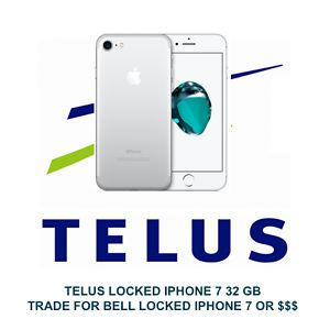 TELUS LOCKED IPHONE 7 for sale or trade 4 BELL LOCKED IPHONE