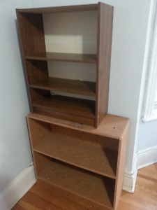 Two Book Shelves, TV Stand