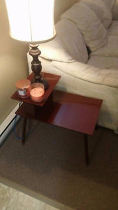 Two Wood End Tables & Wood Coffee Table