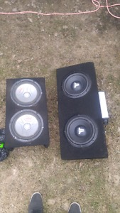 Two sets of Subs, 1 with w JL Amp
