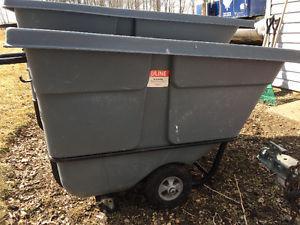 Uline HD industrial rolling garbage bins/dumpsters