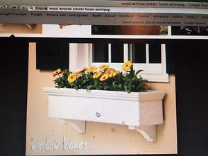 Wanted: Wanted - 2 Wood Flower Boxes