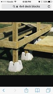 Wanted: looking for 4x4 deck blocks