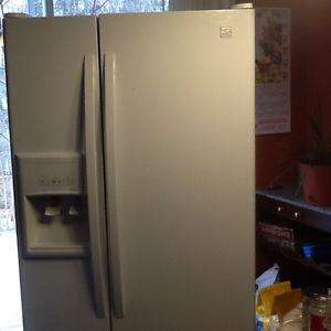 White Kenmore fridge