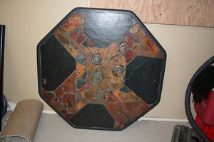 octangular concrete coffee table