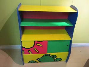 toy box with shelving toy organizer