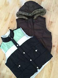 2 down vests. Size M