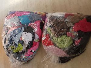 2 garbage bags of girls size  clothes