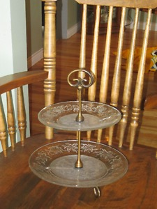 2 tier serving plates by Princess House