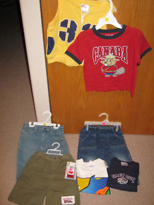 6 boys clothing items in size 24 months & size 2 for one