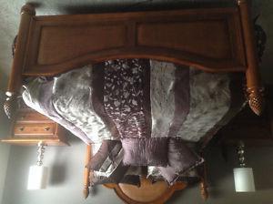 6pc med oak bedroom suite