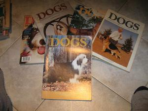 A GROUP of OLD ISSUES of DOGS in CANADA..['80's]