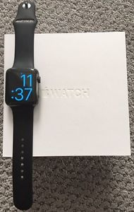 APPLE WATCH SERIES 1 - SPACE BLACK STAINLESS STEEL 42MM