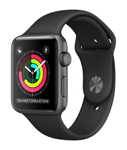 Apple Watch Sport 42mm (Space Gray Aluminum Case Black Band)