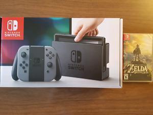 BNIB Nintendo Switch with Zelda