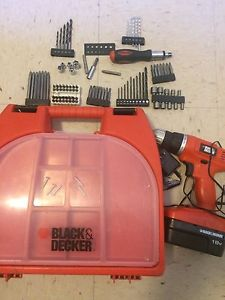 Black and decker cordless drill and hand set