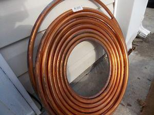 COPPER pipe, 60 ft. roll of new half inch diameter L-type