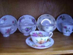 China Tea Cups with matching saucers