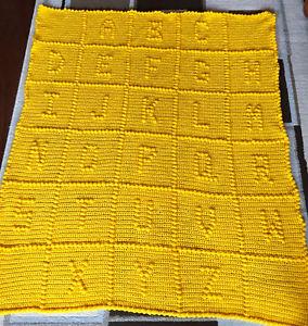 Crocheted ABC Afghan/blanket