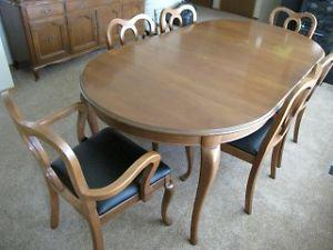 Dining Room table and China Cupboard