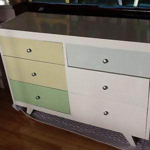 Dresser with two bedside tables