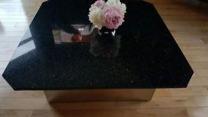 Granite Coffee Table and End Table