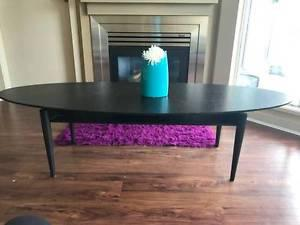 Ikea Oval Black Coffee Table (Mid-century Style) in Black