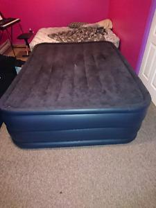 Intex queen raised downy air mattress