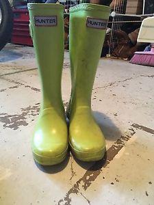 Kids Hunter Rain Boots(Green)